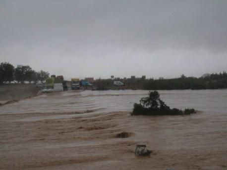 الفيضانات  باقليم تنغير:  خسائر مادية مناطق معزولة وضحيتين بكل من ايت هاني  ومضايق دادس