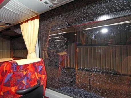 حافلة للركاب تتعرض لهجوم عنيف من طرف مجهولين بالطريق الرابطة بين ورزازات و مراكش