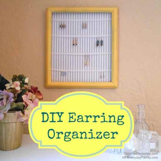 DIY Earring Organizer, DagmarBleasdale.com