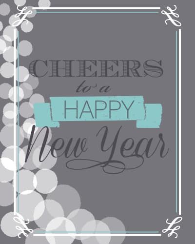 cheers to a happy new year free printable