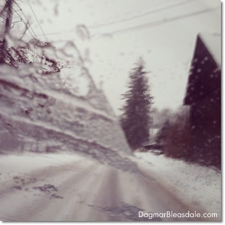 scary drive in snow