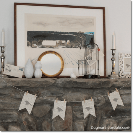 Dagmar's Home: banner with vintage book pages