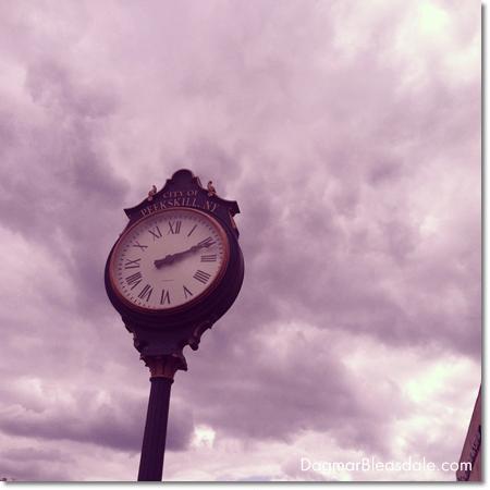 big clock at Peekskill's waterfront, NY