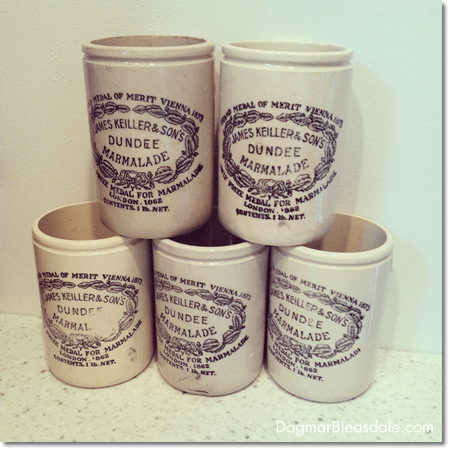 antique Dundee marmalade jars for sale at Dagmar's Home