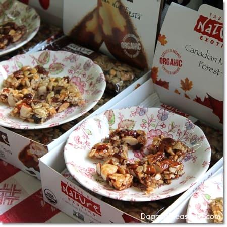 Taste of Nature organic snack bars, gluten-free and vegan