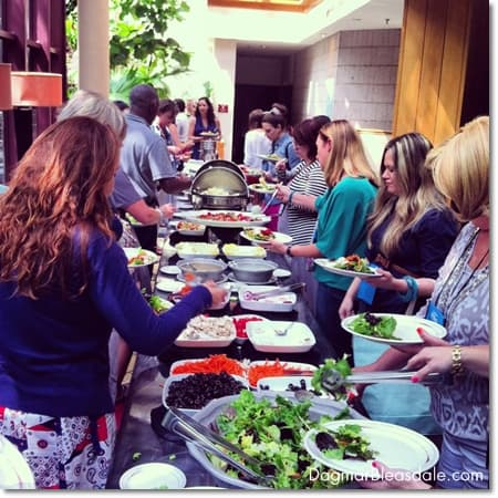 lunch at Haven conference 2014