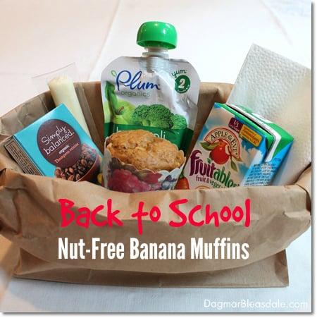 nut-free banana muffins, DagmarBleasdale.com