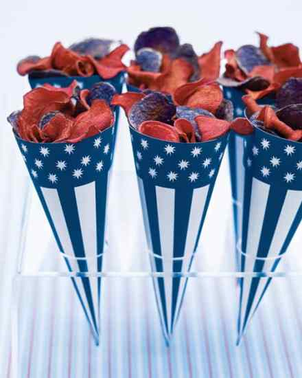 Stars and Stripes Clip-Art Paper Cones