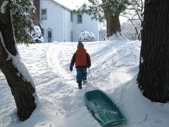 boy in snow 2