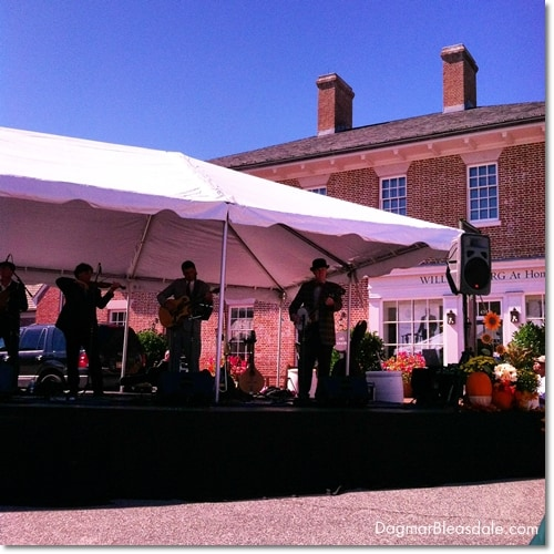 live music in Colonial Williamsburgh, VA