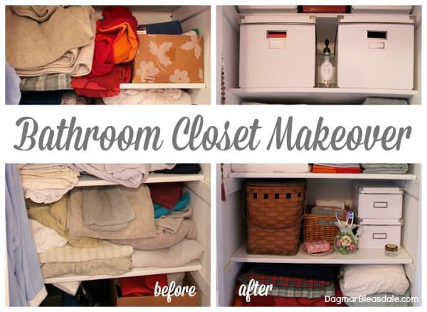 Bathroom Closet Makeover, Blue Cottage. Dagmar's Home, DagmarBleasdale.com