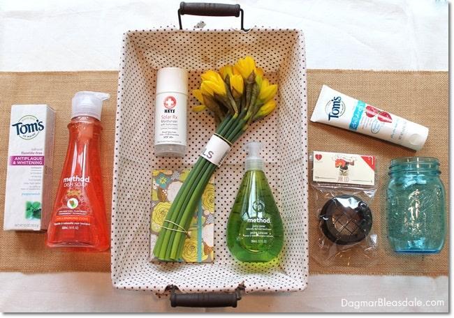 """Green Your Home"" gift basket. DagmarBleasdale.com"