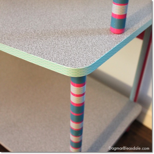 updating furniture with washi tape