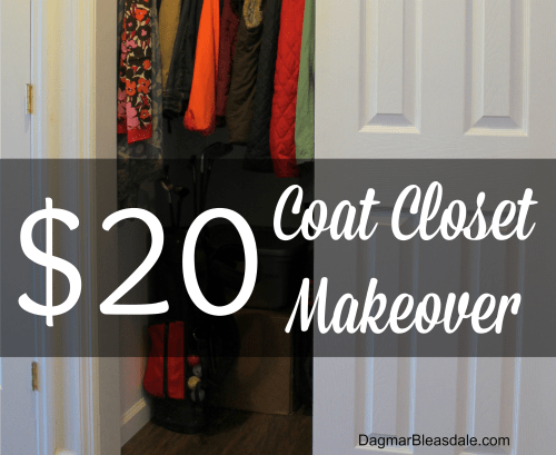 $20 coat closet makeover DagmarBleasdale.com