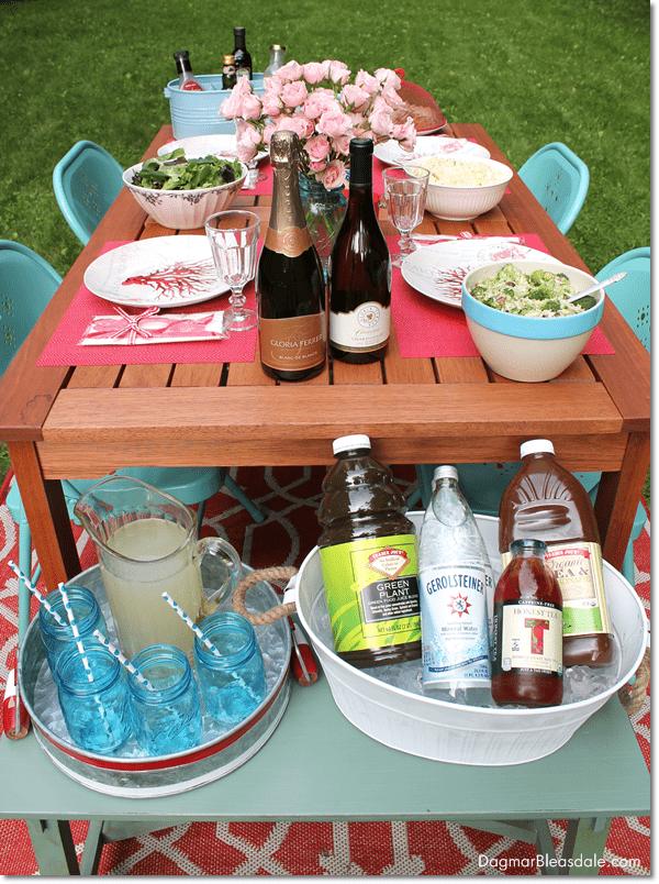 Tablescape for Al Fresco Dining With Gloria Ferrer Wines, DagmarBleasdale.com