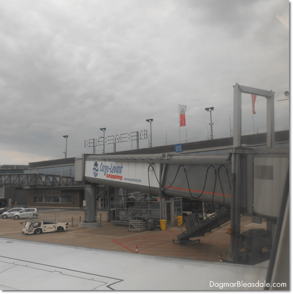 Greetings from Bremen, Germany, airport