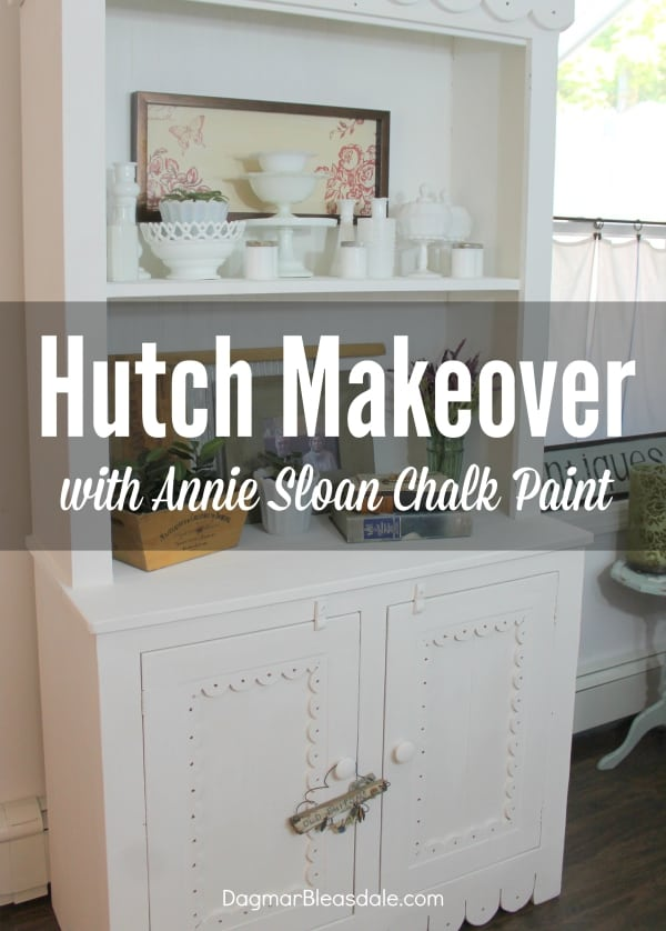 hutch makeover with Annie Sloan Chalk Paint, DagmarBleasdale.com
