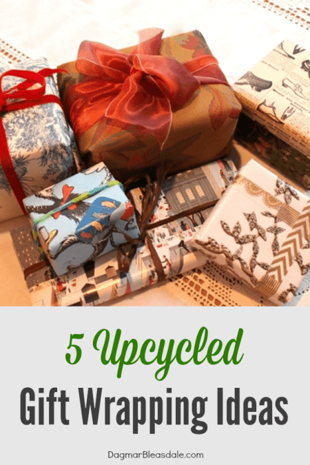 upcycled gift wrapping ideas, DagmarBleasdale.com