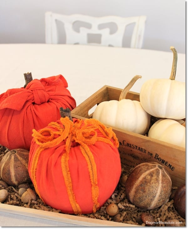 DIY toilet paper roll pumpkin