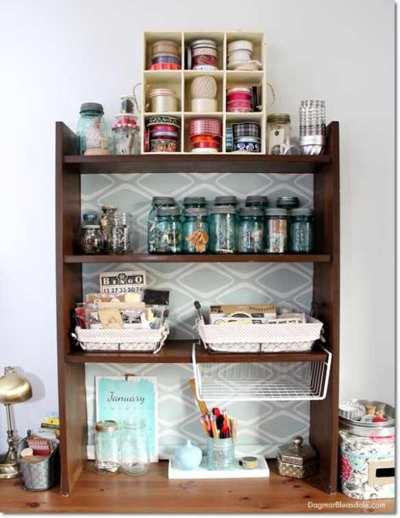 freebie craft room shelf, DagmarBleasdale.com