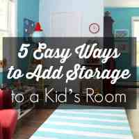 5 Easy Ways to Add Storage to a Kid's Room