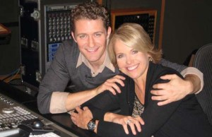 Matthew Morrison and Katie Couric