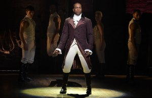 Leslie Odom Jr in Hamilton