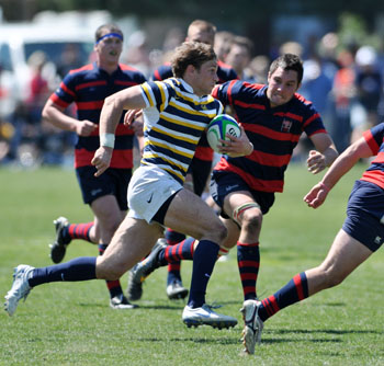 Senior wing Blaine Scully scored two tries against Utah to help advance Cal.