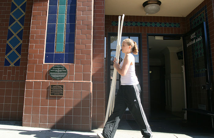 Kaylee Baker, a former resident of the Gaia apartment building, moves out after one year. Gaia is part of Berkeley's apartment offerings, which were rated the best in terms of renter satisfaction.