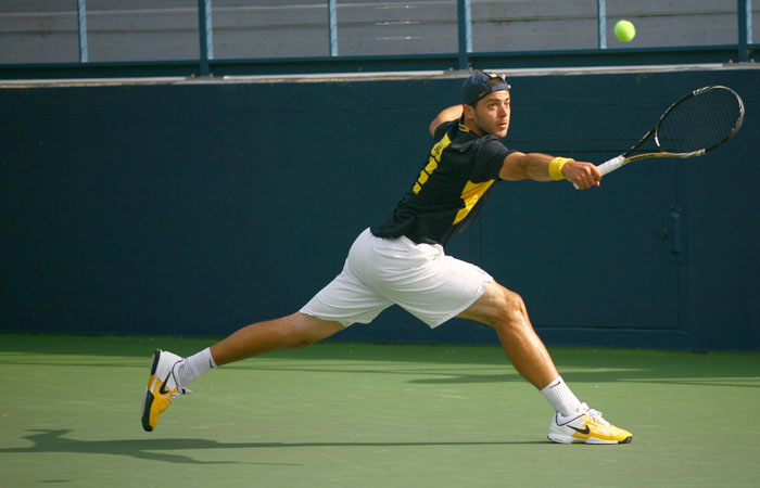 Ranked 20th in the country, senior Pedro Zerbini was Cal's top singles player this year.