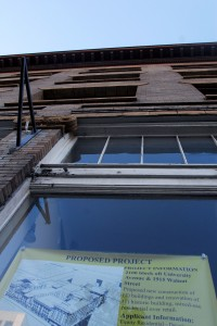 A proposed project on University Avenue and Walnut Street is being developed with money from the Housing Trust Fund, which is managed by the city and receives federal funds.
