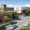 The plans for the renovated building include a design that is two stories, with retail space on the bottom floor and a new Safeway located above.