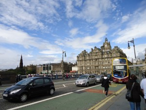 A view of Princes Street, taken from North Bridge.