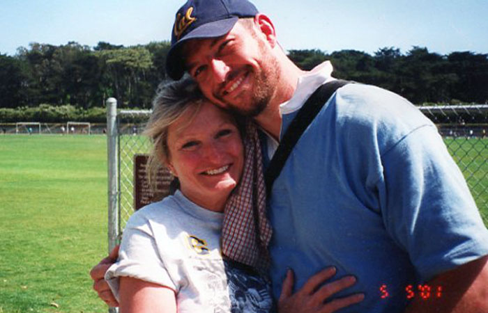 Alice Hoagland with her son Mark Bingham.