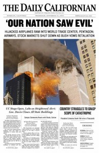 daily cal septemeber 11 front page