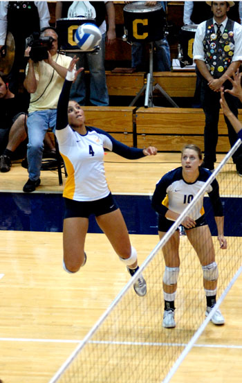 Outside hitter Tarah Murrey is sixth in the conference with 4.29 kills per set.