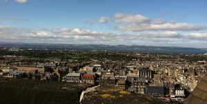 The view from Edinburgh Castle, Scotland.