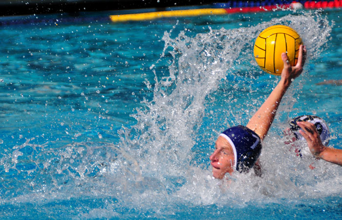 Sophomore attacker Collin Smith notched a hat trick in Saturday's Big Splash.