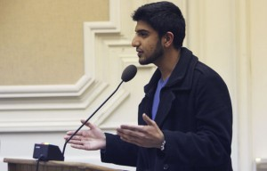 Shahryar Abbasi and other members of the ASUC spoke at the Jan. 17 Berkeley City Council meeting.