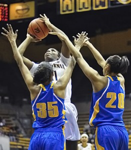 Freshman forward Reshanda Gray logged nine points and six rebounds in Cal's loss to USC.