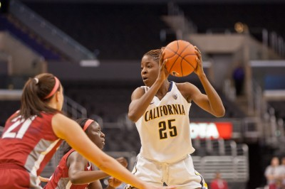 Gennifer Brandon had a double-double in the win over Washington State.