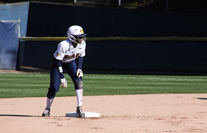 Senior left fielder Jamia Reid led off the potent Cal lineup, hitting 2-for-5 and stealing two bases on Saturday. The Bears connected for 14 hits.