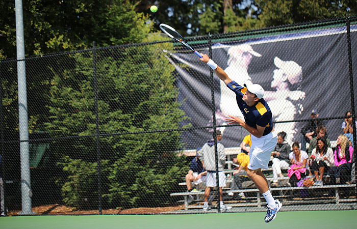 Sophomore Ben McLachlan took two straight-sets wins last weekend on the No. 2 court.