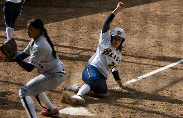 Pitcher/first baseman Valerie Arioto has started 42 games for the Bears, hitting .421. The senior leads the team with 48 runs scored and 19 home runs.