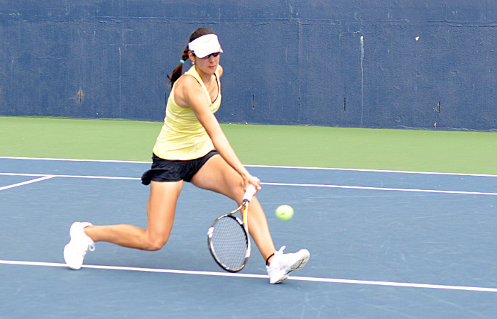 Senior Jana Juricova dropped her top-court match in straight sets. No Cal athlete on the top three courts earned a win against Stanford.