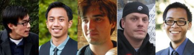 James Chang, Anthony Galace, Erik Krasner-Karpen, Jeremy Palmer, Justin Sayarath are running for executive vice president in the ASUC general elections.