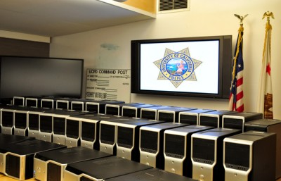 39 computers recovered by UCPD, which were stolen from Mulford Hall last week.