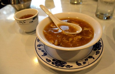 A bowl of hot and sour soup from King Dong Restaurant in downtown Berkeley offers a light, yet fulfilling meal on a chilly day.