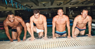 From left: Culen Jones, Nathan Adrian, Ryan Lochte and Brendan Hansen bare all for Glamour.
