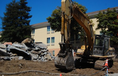 Construction continues on the West Branch of the Berkeley Public Library, located at 1125 University Avenue near San Pablo Avenue.